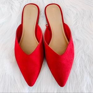 EXPRESS Red suede flats